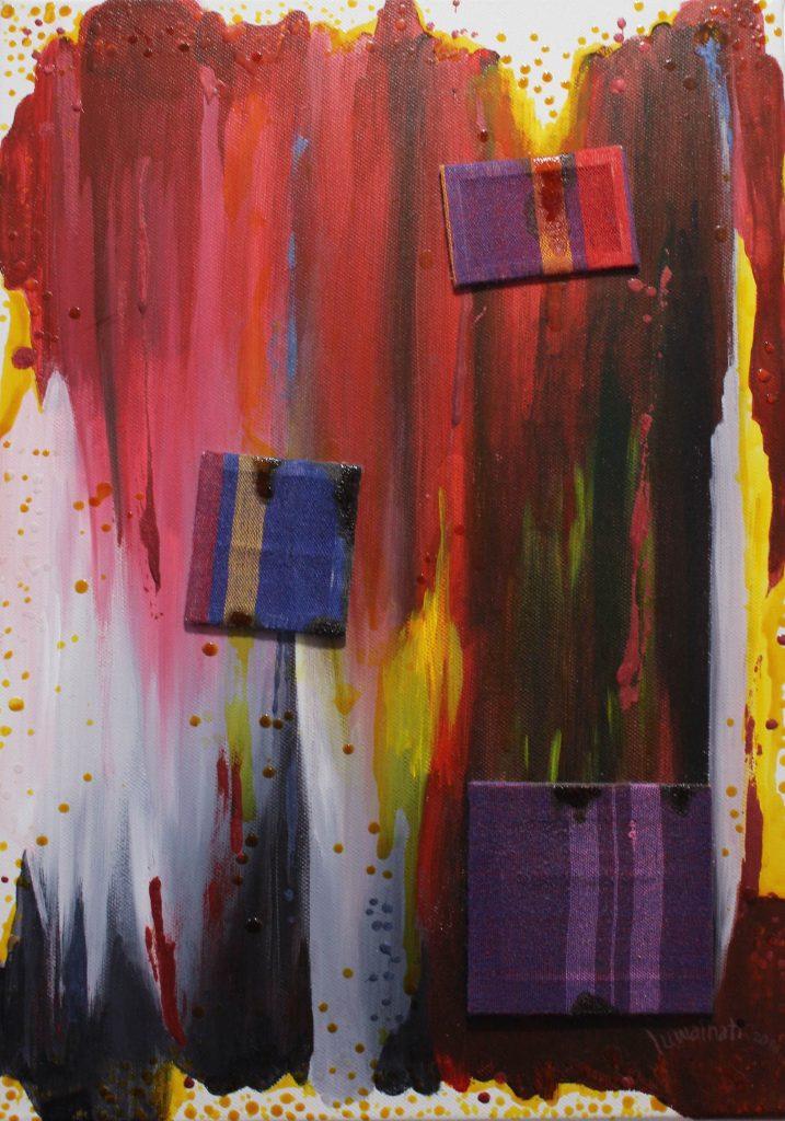petit ARTISANS DES ÉMOTIONS 2_acrylique alkyde et tissu sur toile_24x33cm copy