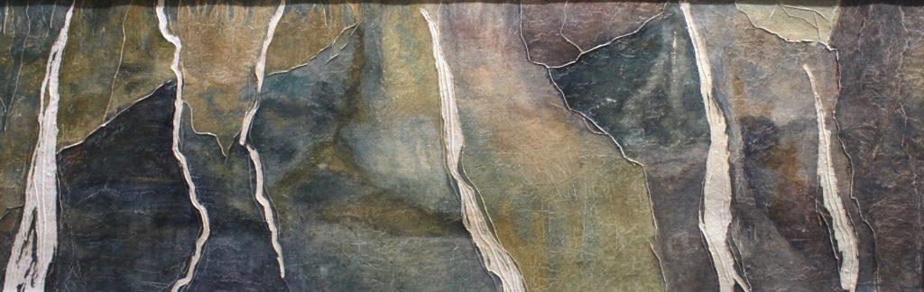 r EN TOUTE HUMILITÉ 2_aquarelle sur papier découpé et gratté_30x90cm_2018 copy